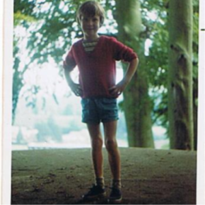 Early Days: The blogger in the '70s, taken by familly friend Mick Worsfold, atop a pillbox set to feature in at least one of his future novels
