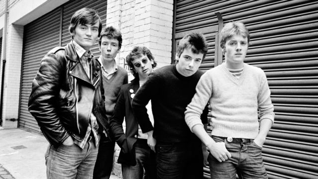 Derry Finery: The Undertones, first time around, with Damian second right. Note the clothes. (Photo courtesy of BBC)
