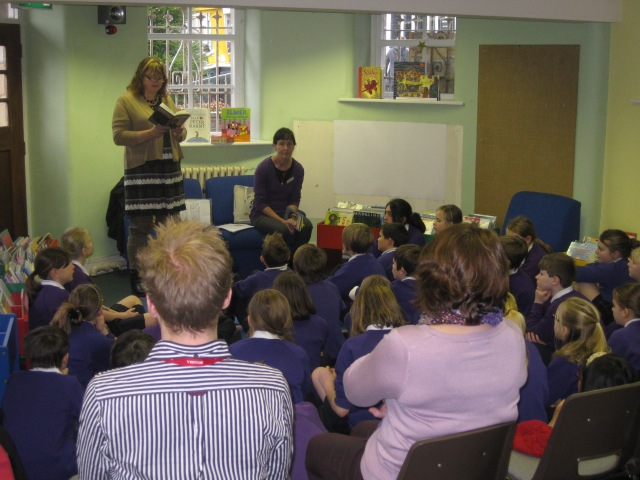 Pupil Power: Livi Michael reading to the year sixes of Pendle Primary School