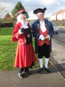 Crying Game: The respective town-criers of Garstang and Nelson discuss tactics
