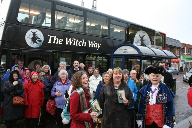 Malkin Party: The Lancashire Day revellers about to set out from Colne (Pic: Michelle Scott/Transdev)