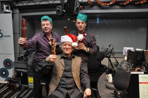It's Christmas: Noddy Holder with BBC 6's Stuart Maconie and Mark Radcliffe