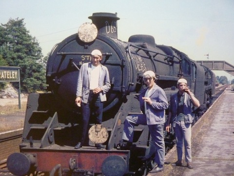 Grateley Days: From left, Bill Brain, Dave Elston and Geoff Burch take a break on the last day of steam, July 1967 (Photo: Geoff Burch)
