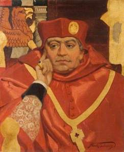 Sing Up: Cardinal Wolsey, here depicted by Frank O. Salisbury in his 1910 painting, asking the KRE to raise their voices