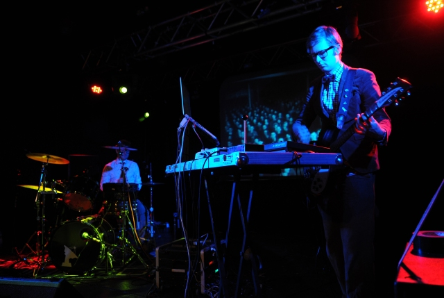 Dynamic Duo: Public Service Broadcasting's Wriggleworth, left, and Willgoose, on stage at Preston's 53 Degrees  in March (Photo: writewyattuk)