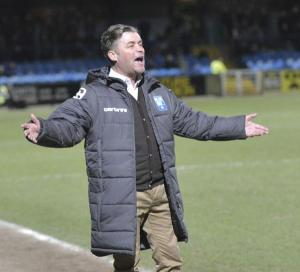 Equestrian Style: Steve King gets animated at Macclesfield (Photo courtesy of David Holmes)