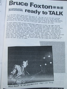 Fanzine Days: Part of the Bruce Foxton interview for Captains Log