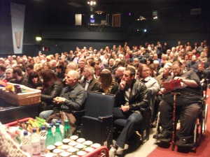 Selling Out: The audience at Chorley Little Theatre on the night (Photo: Diane Gunning)