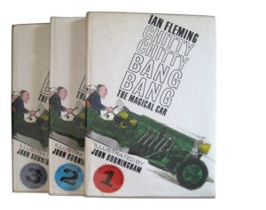 Collectors' Items: The original three-volume Ian Fleming book, illustrated by John Burningham and published by Jonathan Cape. (Photo: http://www.bathbookfair.org/)
