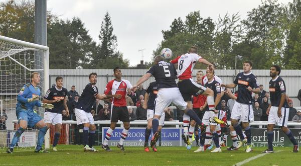 High Jack: Cards defender Jack Parkinson rises to the occasion in the FA Cup against Luton (Photo: David Holmes)
