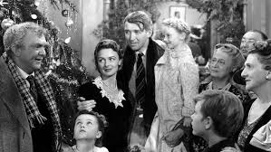 Wonderful Christmas: James Stewart as George Bailey with his fellow cast members from 1946