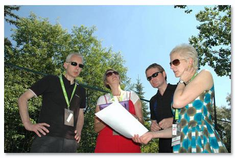 Canadian Trip Chumbawamba Learn Their Lines At A Calgary Folk Festival In 2007 Photo
