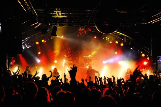 Light Show: Saxon, live in Hamburg in 2011 (Photo: Kai Swillus)