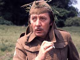 Ultimate Spiv: James Beck as Private Joe Walker in Dad's Army, with trademark fag in hand (Photo: BBC)