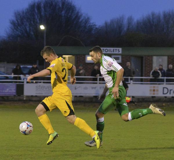 Humber Horror: Jack Marriott had a day to forget at North Ferriby (Photo: David Holmes)