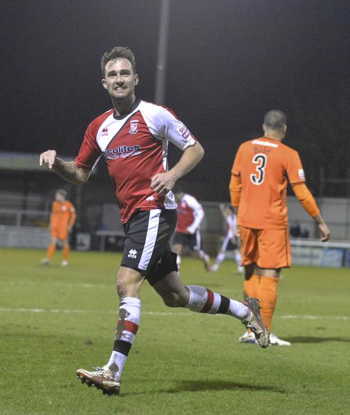 Payne Game: England C's Josh Payne was on form against Hereford (Photo: David Holmes)