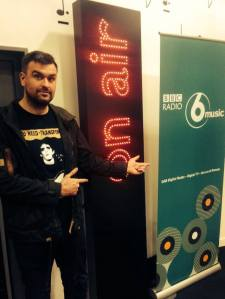 Rev Radio: Jon McClure at Radio 6 recently (Photo: Reverend & The Makers)