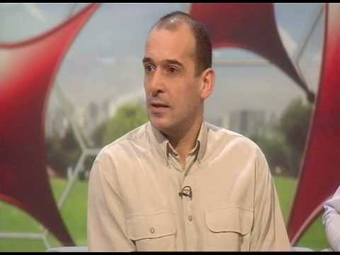 Timmy Time: Woking legend Tim Buzaglo back in the BBC Sport studios in 2009, 18 years after his hat-trick in the 4-2 win over Frank's West Brom (Photo: BBC)