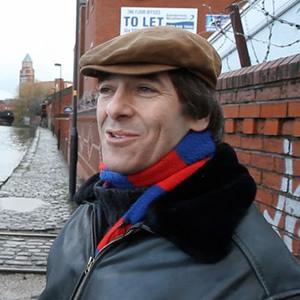 Pier Pressure: Mark Steel during his Wigan visit