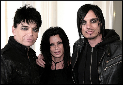We Three: Gary Numan, his wife Gemma, and producer Ade Fenton (Photo: edfieldingphotography )