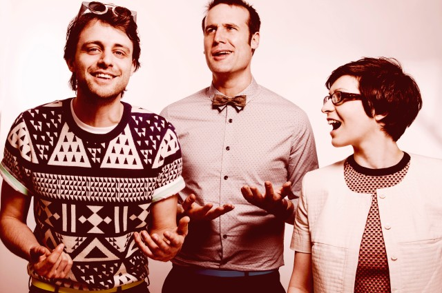 Geek Chic: From the left, Steve Mould, Matt Parker, Helen Arney (Photo: Idil Sukan/Draw HQ)