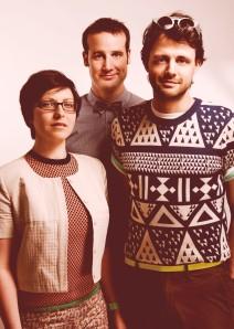 Three's Company: Helen, Matt and Steve (Photo: Idil Sukan/Draw HQ)