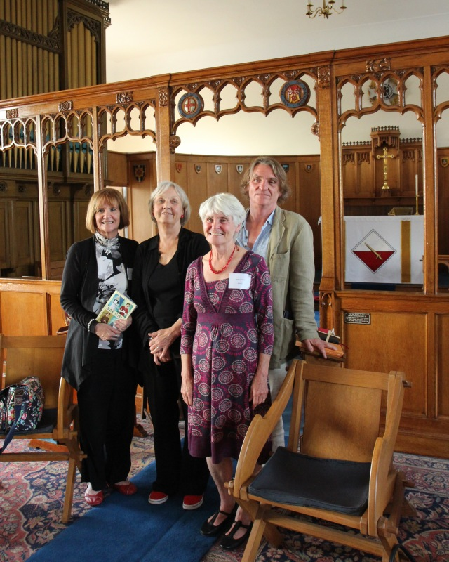 Guest Panel: The Fulwood Barracks authors' quartet - from the left, Theresa Breslin, Anne Fine, Berlie Doherty, Melvin Burgess (Photo: Andersen Press)