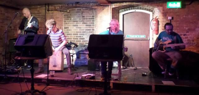 Kodiak Island: Jo's latest band performing at the Cellar Bar in Bracknell (Photo: Jo Bartlett)