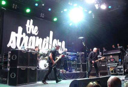 Centre Stage: The band in live action (Photo: The Stranglers)