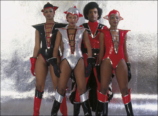 Guest spot: Boney M, with Damon just out of shot