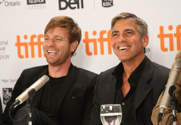 Premiere Pairing:  Ewan McGregor and George Clooney at a Canadian press conference for The Men Who Stare At Goats