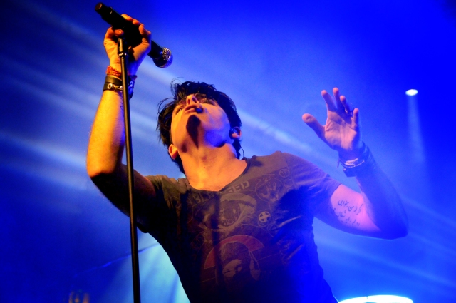 Stage Presence: Gary Numan at Preston's 53 Degrees in 2014 (Photo copyright: Iain Lynn)