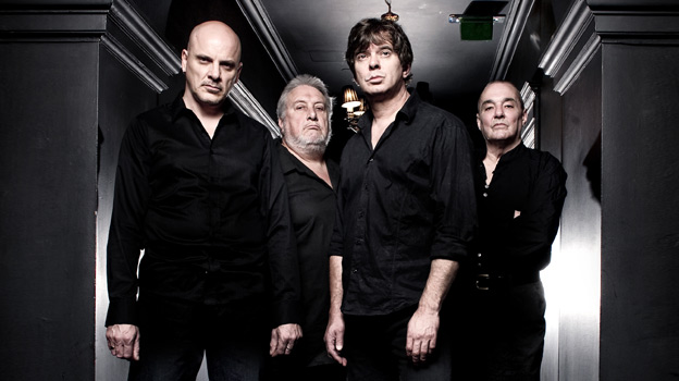 Lining Up: Baz, Jet, JJ and Dave ask us outside (Photo: The Stranglers)