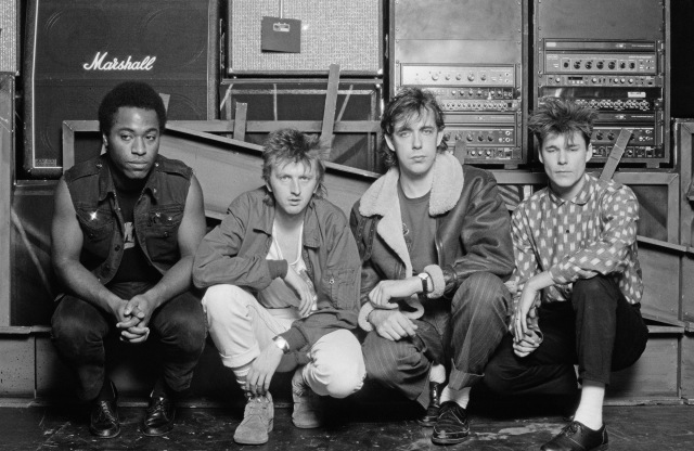 Wonder Days: The original line-up, from  left - Tony Butler, Bruce Watson, Mark Brzezicki and Stuart Adamson