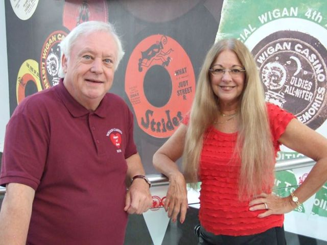 Casino Royalty: Judy Street with Russ Winstanley in Wigan during her UK visit (Photo: Judy Street)