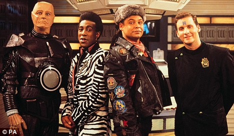 Dwarf Days: Craig with fellow Red Dwarf cast members (Photo: BBC)