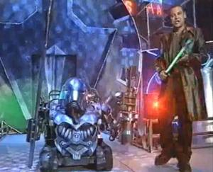 Metal Mates: Craig on the set of Robot Wars (Photo:  BBC)