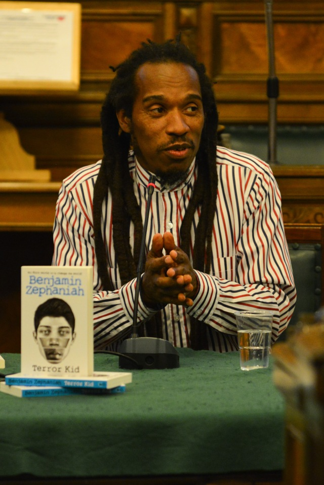 Think On: Benjamin Zephaniah during his last visit to Preston, Lancashire (Photo: Denis Oates Photography)