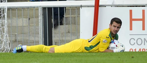 Lying Low: Ross Worner takes it easy during his man of the match return match in the home win over Chester (Photo: David Holmes)