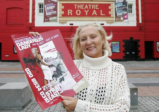 Stage Struck: Martina at the Theatre Royal in Stratford in 2011 (Photo: http://www.newhamrecorder.co.uk/)