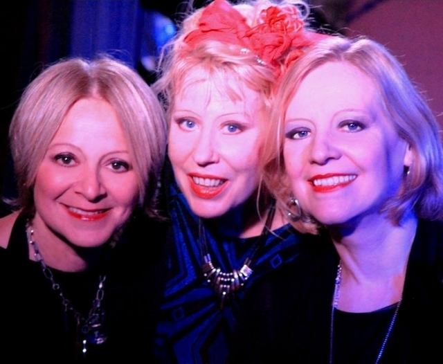 Band Substance: Hazel with Sarah Fisher, left, and Clare Hurst, right