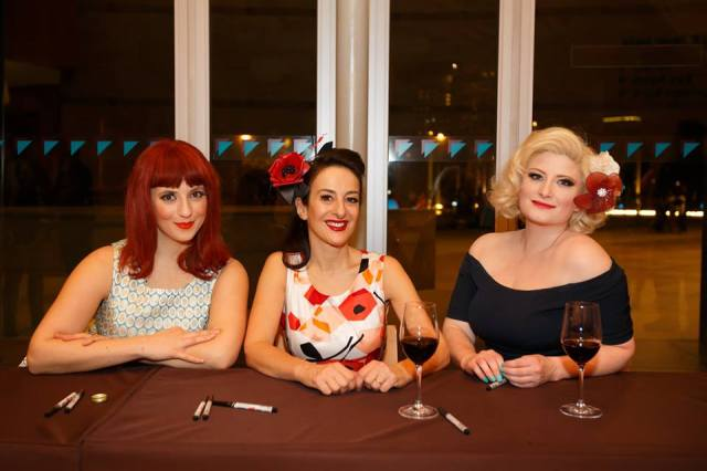 Reception Committee: The Puppini Sisters, 2014. From the left - Emma, Marcella and Kate