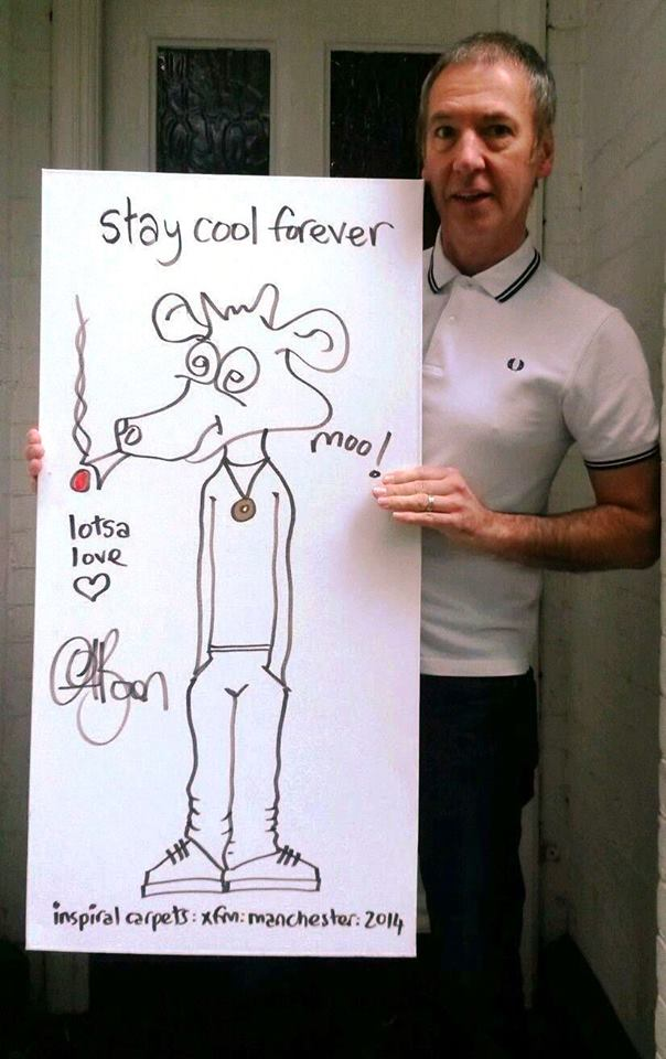 Cool Head: Clint Boon with an IC original canvas, auctioned off in aid of the CLIC Sargent children's cancer charity