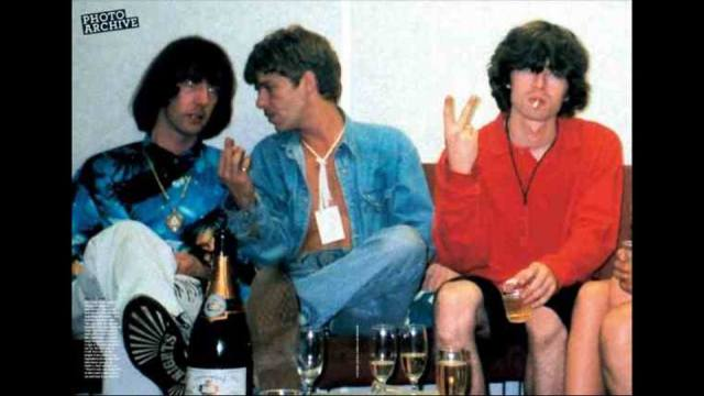 Crucial Three: Clint Boon, The La's legend Lee Mavers and a certain Noel Gallagher (Photo  from the Inspiral Carpets facebook page)