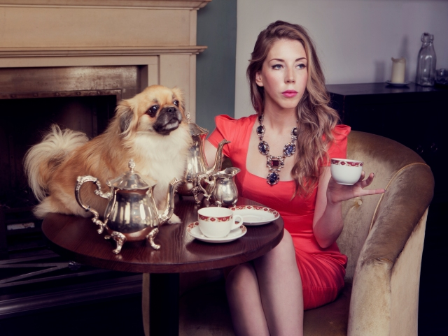 High Tea: Katherine Ryan with an admirer