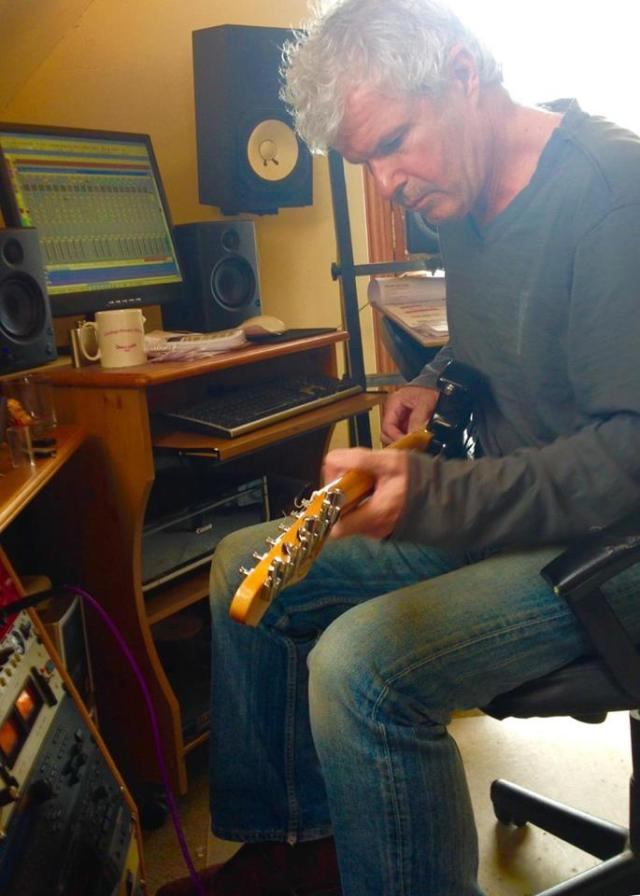 Ron Run: Carol's co-writer/band co-founder Ronnie Rogers busy in the studio on the new LP (Photo: Carol Decker/T'Pau)