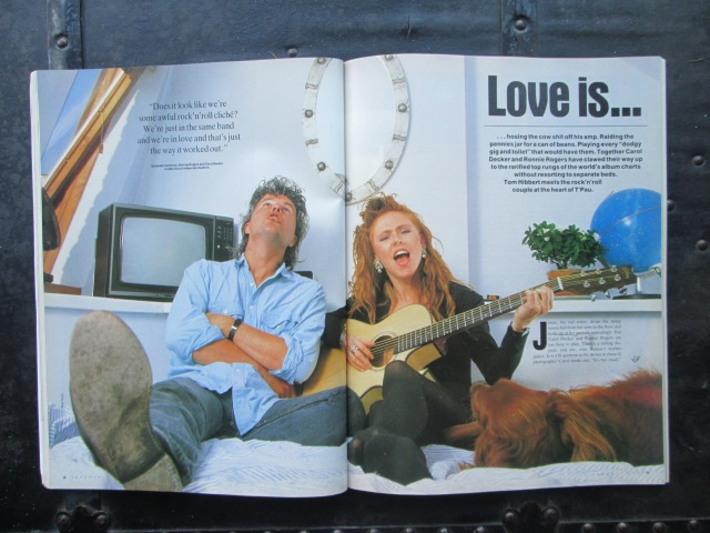 Old Times; Ron, Carol and Jessie at home in Kentish Town back in 1988 for a feature with Q magazine