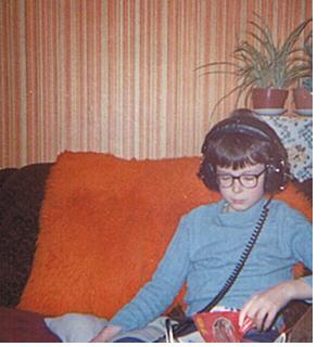 Early Research: The blogger in Jan '78, wired for sound and studying the Beautiful Game (Photo: The MIW Collection)