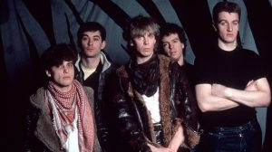 Flying Days; Julian Cope in his air force jacket with The Teardrop Explodes