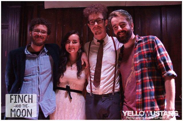 Hotel Line-Up: Jonny Woodhead, Caitlin, Lee and Calum Gilligan at The Castle (Photo: Marc McGarraghy, Yellow Mustang Photography)